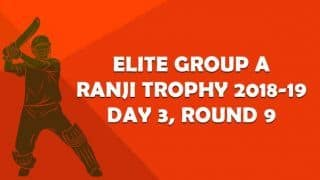 Ranji Trophy 2018-19, Round 9, Elite A, Day 3: Saurashtra need one wicket to seal qualification berth