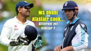 MS Dhoni and Alastair Cook — Two captains, different men, similar responses