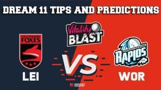 Dream11 Team Leicestershire vs Worcestershire North Group VITALITY T20 BLAST ENGLISH T20 BLAST – Cricket Prediction Tips For Today's T20 Match LEI vs WOR at Worcester