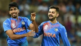 Watch Kohli impersonate Bumrah's bowling action