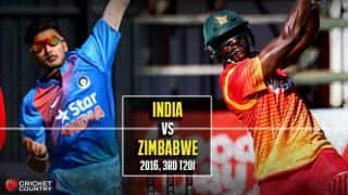 ZIM 135/6, 20 overs | India vs Zimbabwe 2016, Live Cricket Score, 3rd T20I at Harare: IND win by 3 runs
