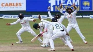 sl vs ban sri lanka beat bangaladesh by 209 runs debutant jayawickrama stars