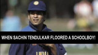 When Sachin Tendulkar floored a schoolboy in 1992