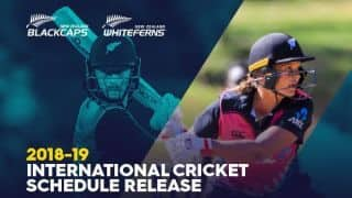 Busy New Zealand 2018-19 summer includes series with India men and women