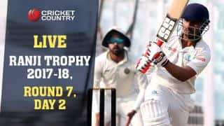 Live Cricket Scores, Ranji Trophy 2017-18, Round 7, Day 2