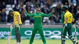 गेंदबाजों के भरोसे पाकिस्तान ने दक्षिण अफ्रीका को 19 रनों से हराया (DLS नियम)