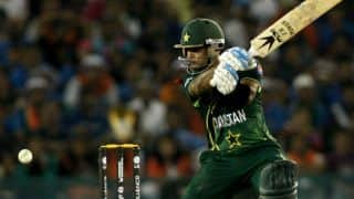 Mohammad Hafeez scores his 24th ODI half-century in game against Zimbabwe in 1st ODI at Lahore