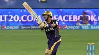 Robin Uthappa departs for Kolkata Knight Riders vs Delhi Daredevils in IPL 2014