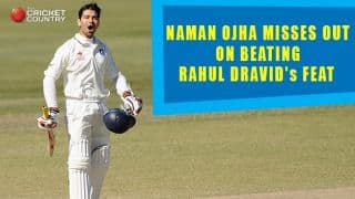 Naman Ojha narrowly misses out on beating Rahul Dravid's feat during India A's tour of Australia 2014