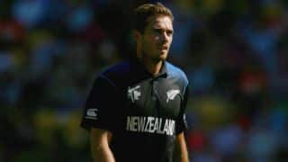 Jason Roy dismissed for 9 by Tim Southee against New Zealand in 3rd ODI at Southampton