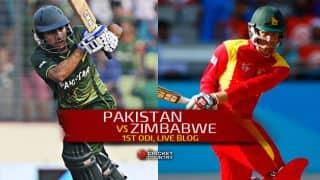 Live Cricket Score Pakistan vs Zimbabwe 2015, 1st ODI at Lahore: Pakistan win by 41 runs, go 1-0 up