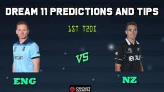 ENG vs NZ Dream11 Team England vs New Zealand, 1st T20I, England tour of New Zealand – Cricket Prediction Tips For Today's Match ENG vs NZ at Christchurch
