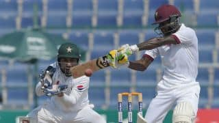 Lunch Report, Day 5, 2nd Test: Pakistan 3 wickets away from clinching series as Jermaine Blackwood leads West Indies' resistance
