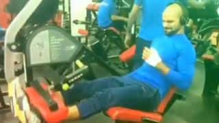 VIDEO: Shikhar Dhwan sweat it out in gym while displaying plastered Thumb