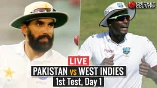 Live Cricket Score, PAK  vs WI, 1st Test, Day 1: Bad light forces early stumps
