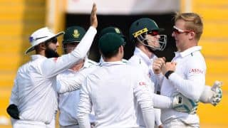 South Africa fight back to reduce India to 185/8, lead of 202 at lunch on Day 3 of 1st Test at Mohali