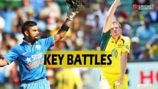 India vs Australia 2015-16, 4th ODI at Canberra: Virat Kohli vs James Faulkner, MS Dhoni vs John Hastings and other likely key battles