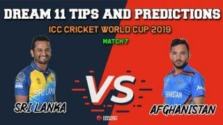 Dream11 Prediction: Afghanistan vs Sri Lanka, Cricket World Cup 2019, Match 7 Team Best Players to Pick for Today's Match between Afghanistan and Sri Lanka at 3 PM
