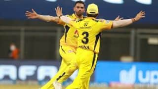 IPL Match 8 in PICS: Deepak Chahar's Four-for Guides CSK to 6-Wicket Win Over Punjab Kings