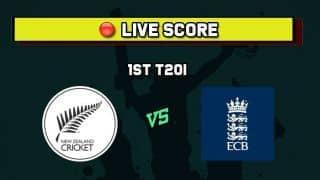 New Zealand vs England Live Cricket Score and Updates: NZ vs ENG Live Cricket Score, 1st T20I  match Live cricket score at Hagley Oval, Christchurch