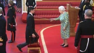 Sir Alastair Cook receives knighthood at Buckingham Palace