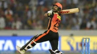 Indian T20 League, Match 4: Hyderabad thrash Rajasthan by 9 wickets