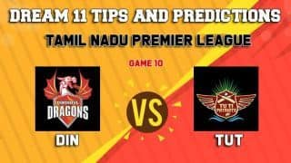 Dream11 Team Dindigul Dragons vs Tuti Patriots Match 10 TNPL 2019 TAMIL NADU T20 – Cricket Prediction Tips For Today's T20 Match DIN vs TUT at Tirunelveli