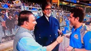 Tendulkar, Gavaskar joined by Big B during Match 51 of IPL 2015