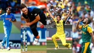 POLL: Mohammed Shami, Mitchell Starc, Imran Tahir, or Mitchell McClenaghan; who will reach 100 ODI wickets first?