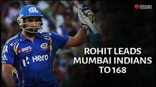 Rohit Sharma's sublime 98* propels Mumbai Indians to 168/3 against Kolkata Knight Riders in IPL 2015 Match 1