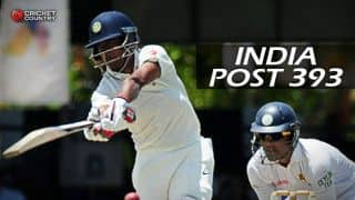 India bowled out for 393 against Sri Lanka in 2nd Test at Colombo