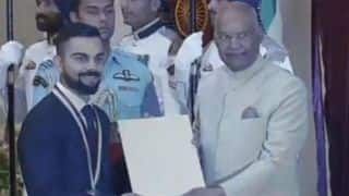 WATCH: Virat Kohli receives Rajiv Gandhi Khel Ratna Award