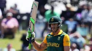 Faf du Plessis leads South Africa to 231/7 against West Indies in 2nd T20I at Johannesburg