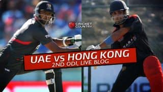 UAE 146 in 40.1 overs │ Live Cricket Score, UAE vs Hong Kong at Dubai, Match 14, ICC World Cricket League Championship 2015-17: Hong Kong won by 136 runs