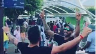 कोहली और धवन ने भांगड़ा के साथ मैदान में की एंट्री, वीडियो वायरल