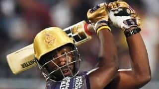 Indian T20 League: Russell blitz spoils Warner's return as Kolkata beat Hyderabad by six wickets