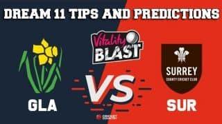 Dream11 Team Glamorgan vs Surrey South Group VITALITY T20 BLAST ENGLISH T20 BLAST – Cricket Prediction Tips For Today's T20 Match GLA vs SUR at Cardiff