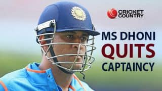MS Dhoni steps down as India's limited-overs (ODI and T20I) captain