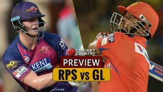 RPS vs GL IPL 2017, Match 39: GL hope to continue good performances against RPS