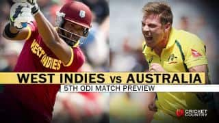 West Indies vs Australia, Tri-Nation Series 2016, Match 5 at St.Kitts, Predictions and Preview: Visitors aim to reach final spot