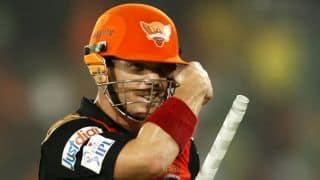 सनराइजर्स हैदराबाद ने किंग्स इलेवन पंजाब को दिया 160 रनों का लक्ष्य