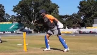 Video: Virat Kohli, MS Dhoni, KL Rahul sweat it out in nets; Dinesh Karthik practices wicket-keeping
