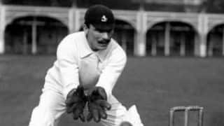 Fred Huish effects 9 stumpings in a match