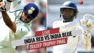 LIVE Cricket Score, Duleep Trophy 2017-18, India Red vs India Blue: STUMPS