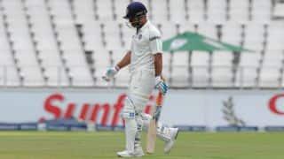 Peterson strikes twice; India 159/7