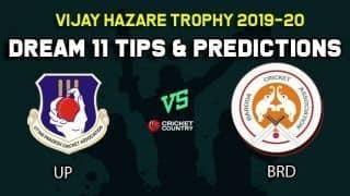Dream11 Team Uttar Pradesh vs Baroda, Round 2, Elite Group B Vijay Hazare Trophy 2019 VHT ODD – Cricket Prediction Tips For Today's Match UP vs BRD at Vadodara