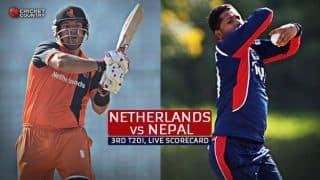 Live Cricket Scorecard: Netherlands vs Nepal, 3rd T20I, Rotterdam