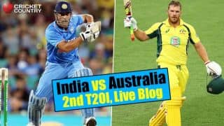AUS 157/8 in Overs 20   Target 185   Live Cricket Score, India vs Australia 2015-16, 2nd T20I at Melbourne: India win by 27 runs