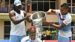 ALS Ice Bucket Challenge performed by cricketers