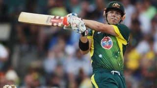 David Warner, Aaron Finch power Australia to 200/7 in ICC World T20 2014 warm-up tie against New Zealand